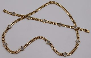 JEWELRY. 2 Pc. 14kt Gold and Diamond Suite.