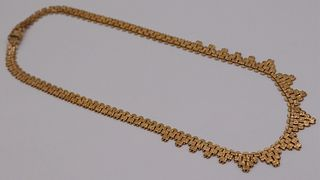 JEWELRY. Italian 18kt Gold Articulated Necklace.