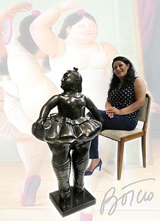 A Monumental Botero Bronze titled Ballerina, H 43""