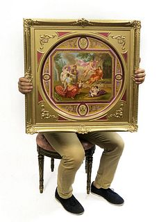 A Monumental Framed Royal Vienna Charger, 19th C.