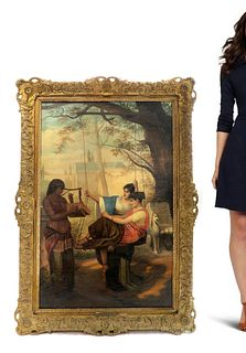 A Large Oil on Canvas Painting Signed J. Hall