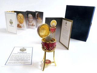 A Faberge Menagerie Chicken Surprise Egg