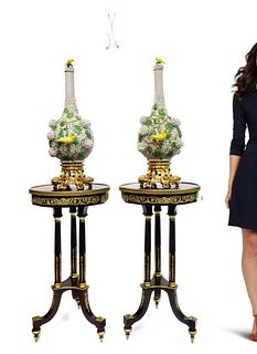 Pair of Monumental Meissen Snowball/Schneeballen Vases