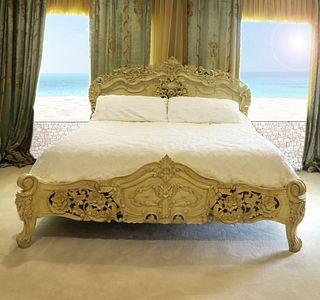 A French Rococo Style California King Bed