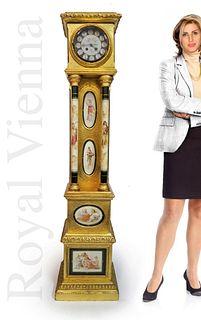 A LARGE 19TH C. AUSTRIAN ROYAL VIENNA CLOCK