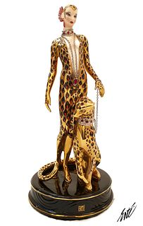Leopard, The Franklin Mint House of ERTE Figurine