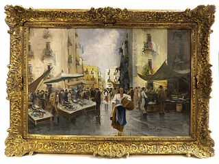 19th C. Continental Impressionist Oil on Canvas