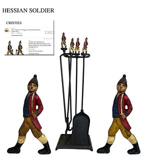 A Pair Of Hessian Soldier Andirons Fireplace Chenets