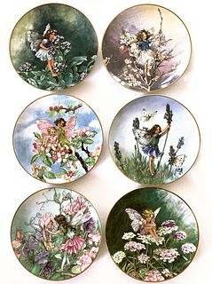 The Flower Fairies Collection, Heinrich Set of 6 Plates