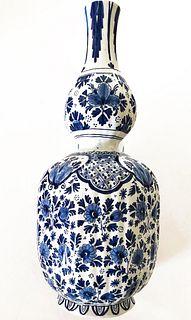 Chinese Blue/White Hand Painted Porcelain Vase, Signed