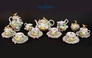 Very Rare 19th C. Snowball Meissen Tea and Coffee Set