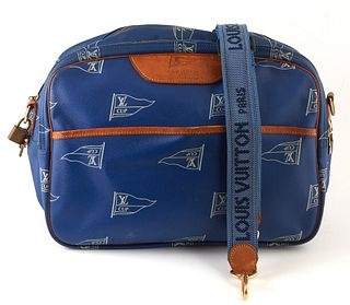 Louis Vuitton Blue LV Cup Monogram Coated Canvas Limited Edition LV Cup Sac Cowers Shoulder Bag, with vachetta leather accents and golden brass hardwa