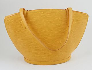 Louis Vuitton Yellow Epi Leather GM St. Jacques Shopping Handbag, with golden brass hardware, opening to a purple suede interior with small pocket, H.
