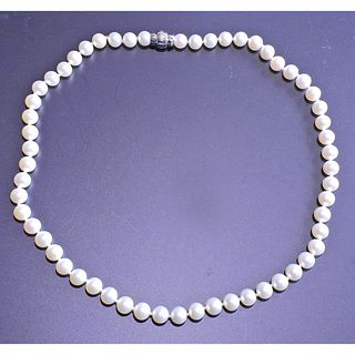 Mikimoto Blue Lagoon 18k Gold 7mm to 7.5mm Pearl Necklace
