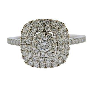 Memoire Gold 1.15ctw Diamond Engagement Ring
