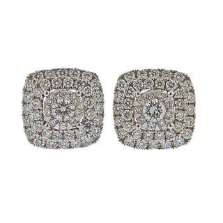 Memoire Gold 1.05ctw Diamond Stud Earrings