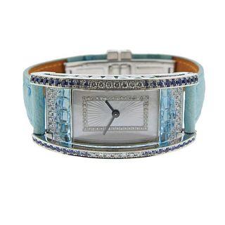 Io Si Gold Diamond Sapphire Watch