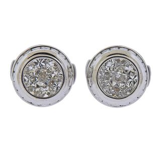 18k Gold 3.56ctw Diamond Cufflinks