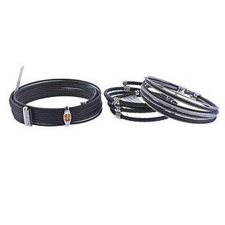 Charriol Alor 18k Gold Steel Wrap Bracelet 3pc