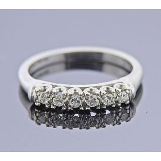 Platinum Diamond 6 Stone Ring