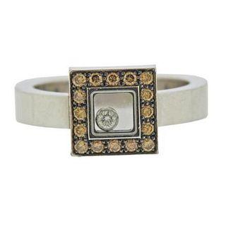 Chopard 18K Gold Happy Diamond Ring