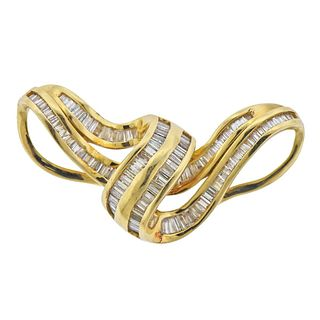 14k Gold 3.00ctw Diamond Slide Pendant