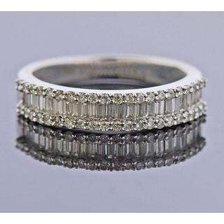 18k Gold Diamond Wedding Band Ring