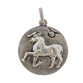 Buccellati Silver Taurus Zodiac Sign Pendant