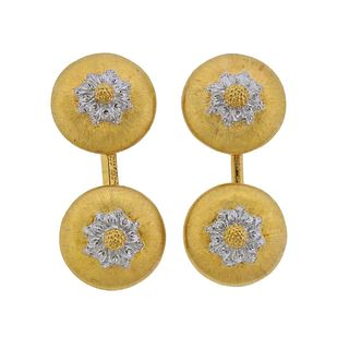 Buccellati 18k Gold Geminato Cufflinks