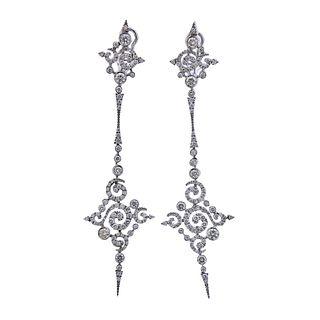 Stefan Hafner 2.25ctw Diamond 18k Gold Cocktail Earrings