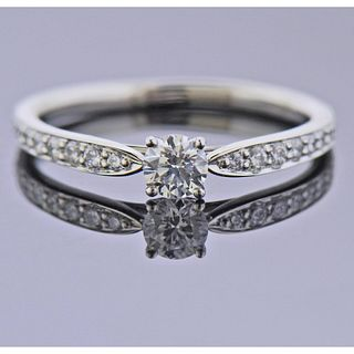 Tiffany & Co 0.23ct G VVS1 Diamond Platinum Engagement Ring