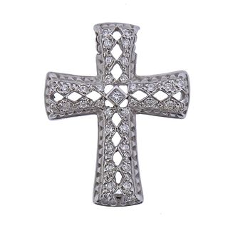 Doris Panos 18k Gold Diamond Cross Pendant