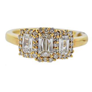 Ashoka Diamond Gold Engagement Ring