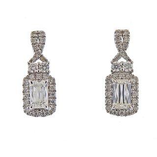 Ashoka 1.49ctw Diamond Gold Drop Earrings