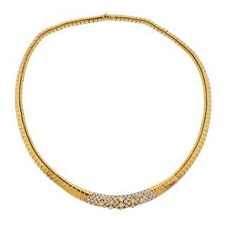 Van Cleef & Arpels 18k Gold 5.20ctw Diamond Necklace