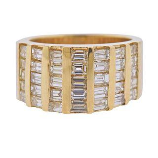 14k Gold Baguette Diamond Ring