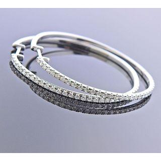 Kallati 9k Gold Diamond Hoop Earrings