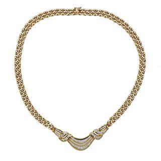Italian 14k Gold 2.50ctw Diamond Necklace