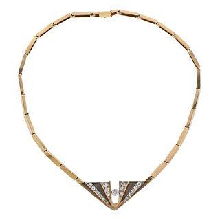14k Gold Diamond Necklace