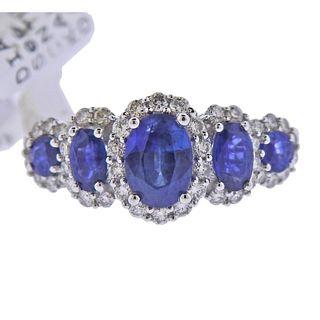 Kallati Gold Diamond Sapphire Ring
