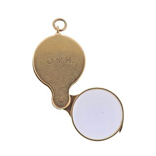 Antique 14k Gold Magnifying Glass Pendant
