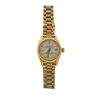 Rolex Datejust 18k All Gold Lady's Watch