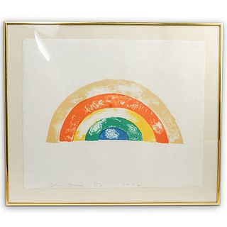 "Jim Dine (American B. 1935) ""Rainbow"" Colored Lithograph"