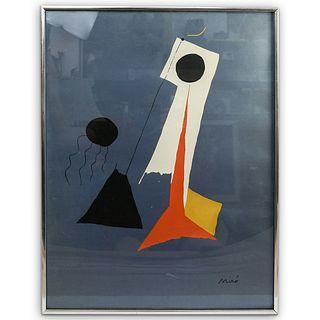 Joan Miro (Spanish, 1893-1983) Silkscreen