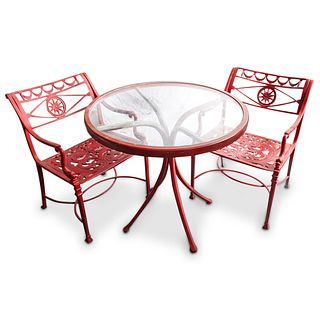 (3 Pc) Outdoor Patio Bistro Set