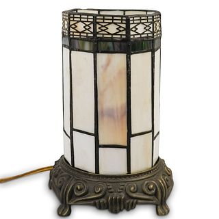 Art Deco Style Stained Glass Lamp