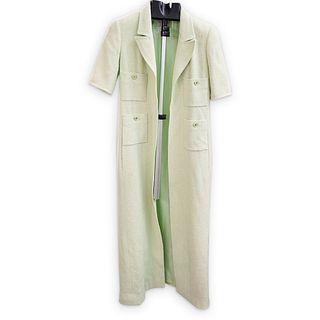 Chanel Mint Green Tweed Long Dress-Jacket