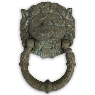 Antique Bronze Lion Door knocker