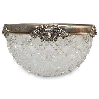 Gorham Sterling Mounted Crystal Bowl