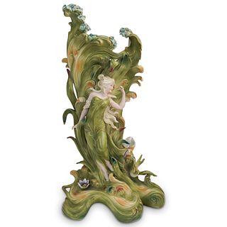 German Figural Art Nouveau Vase